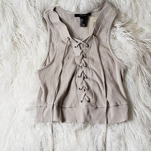 Forever 21 Taupe Knit Crop Top